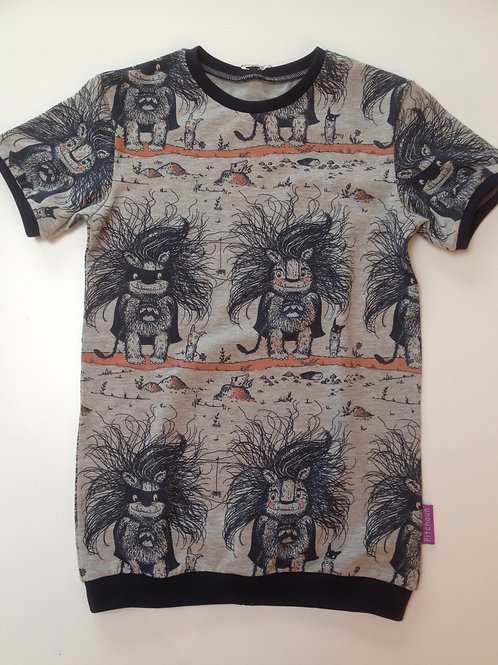 slim fit t-shirt monsters bio maat 140