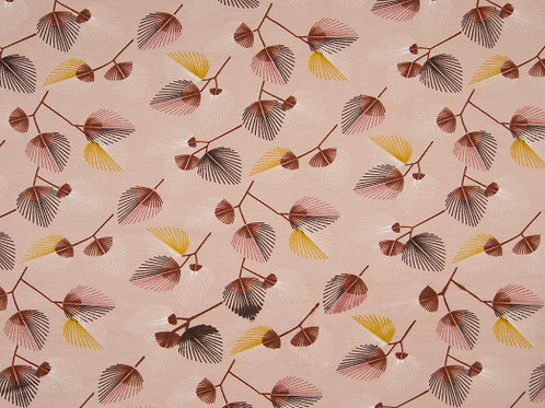 Tricot - leaves old pink - GOTS