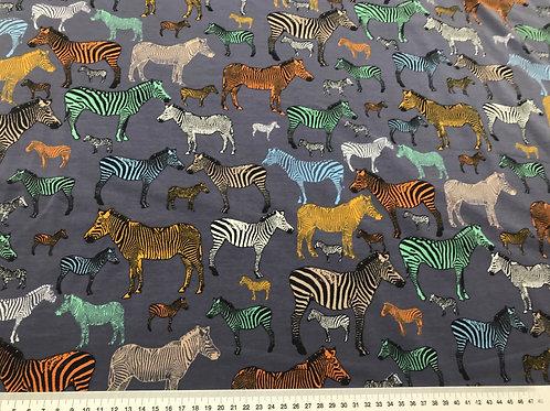 French terry zebra business