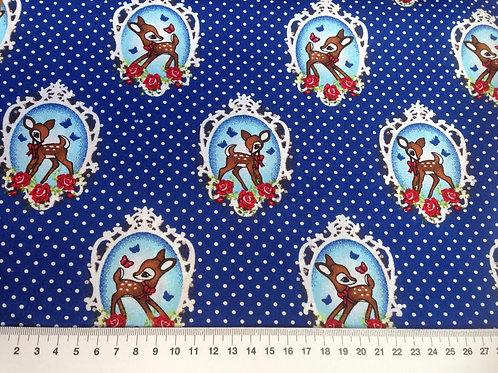 retro bambi blauw