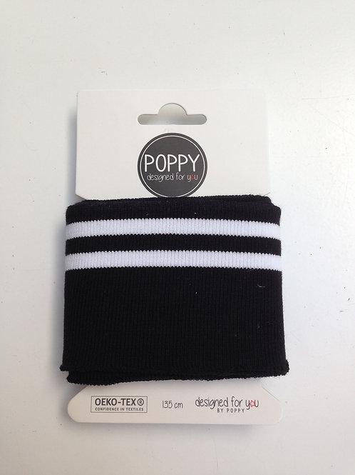 cuff black/white by Poppy