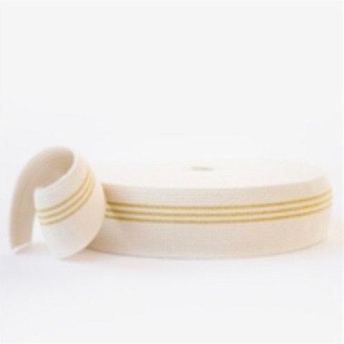SYAS elastiek drie gouden strepen