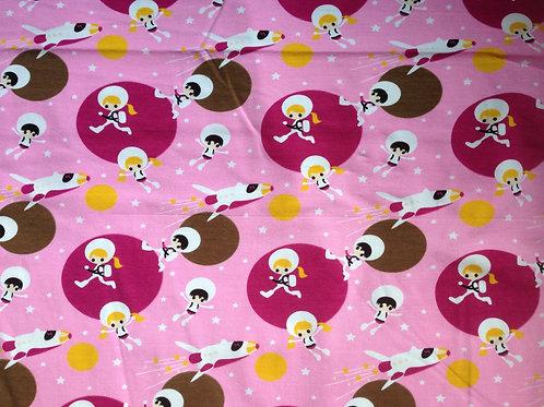tricot retro space roze GOTS