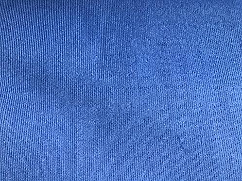 Ribvelour kobalt
