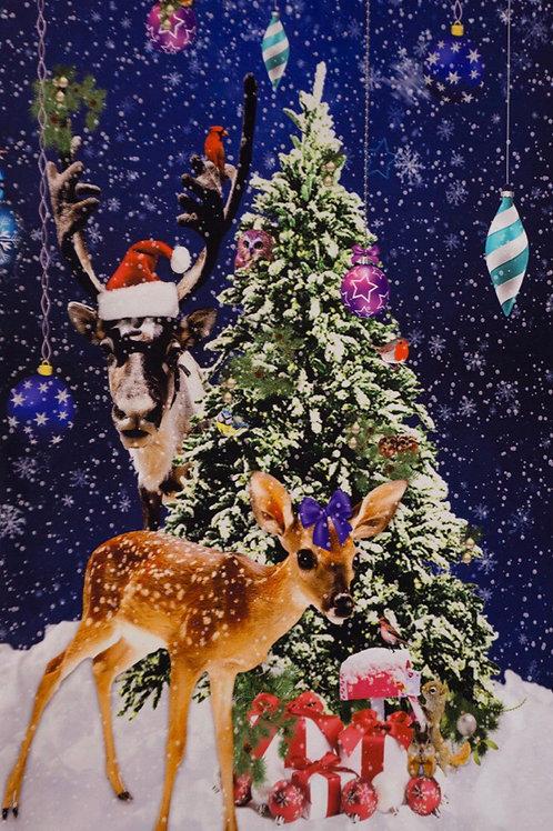Paneel bambi kerst
