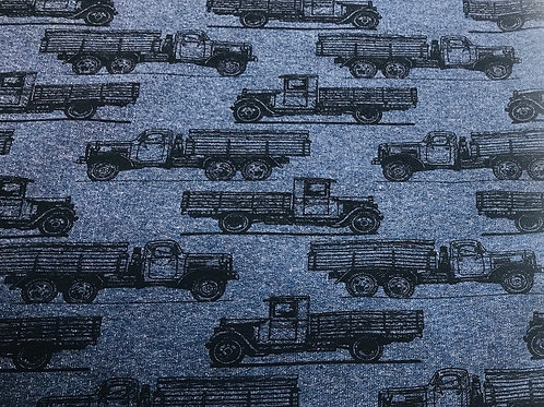French terry truck jeans