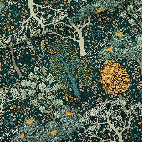SYAS Oriental Garden - canvas gabardine twill - Gevelgroen