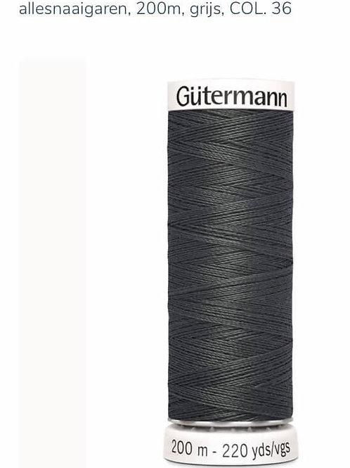 Garen kleur 36 grijs