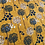 Thumbnail: Megan Blue -  french terry brushed - Dandelion on dots ocre