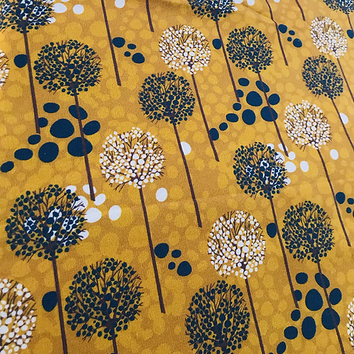 Megan Blue -  french terry brushed - Dandelion on dots ocre