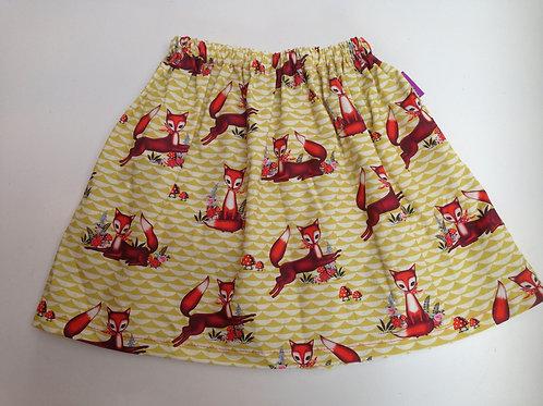 rok met elastiek retro vos 6-7jaar