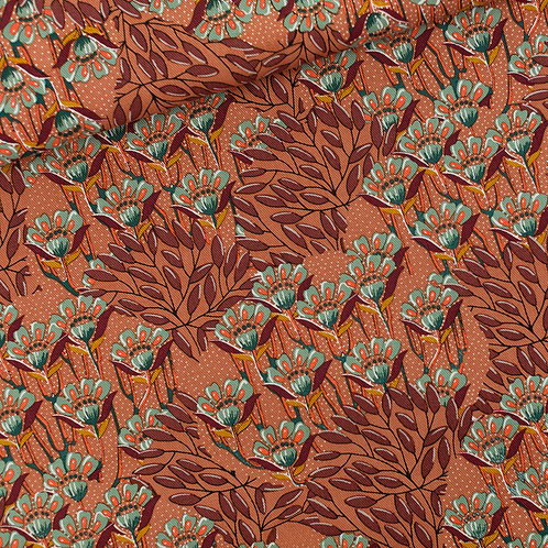 SYAS Gilly Flowers - canvas gabardine twill - zonnebrandbruin