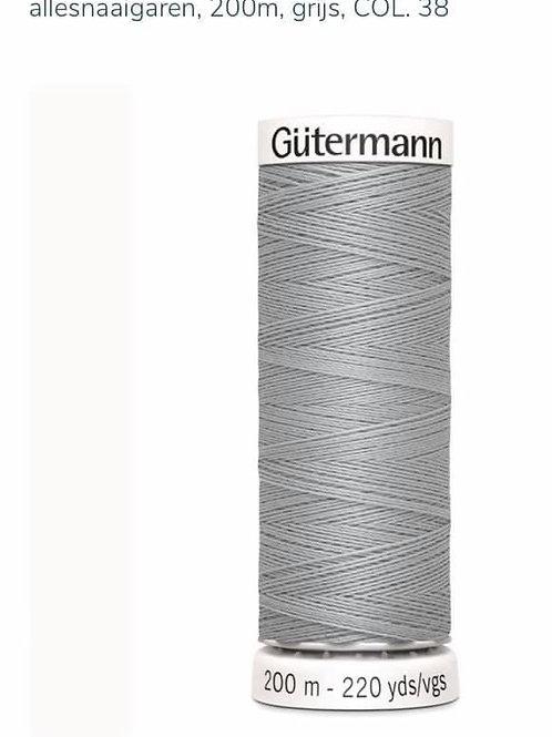 Garen kleur 38 grijs