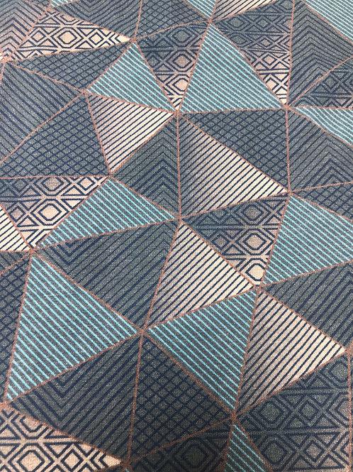 Tricot grafisch blauw