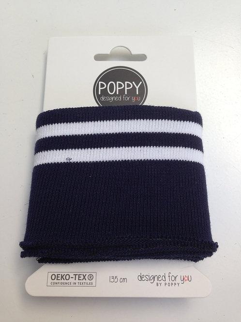 cuff navy/white by Poppy