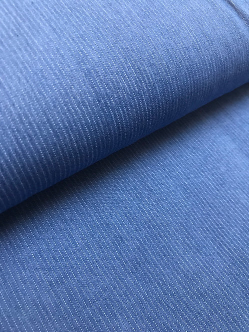 Chambrai jeans met wit lijntje