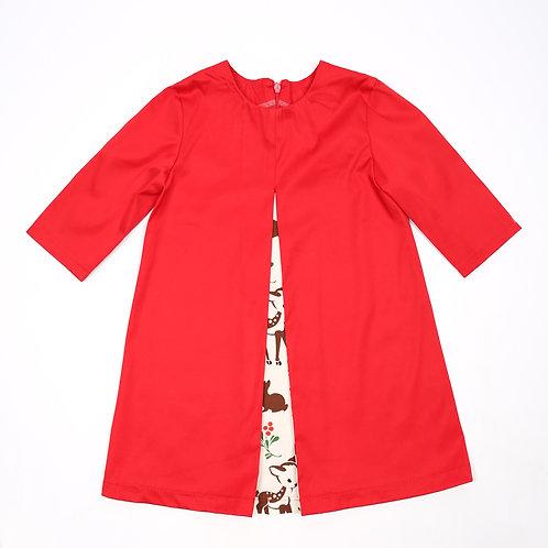 jurk rood/bambi maat 104