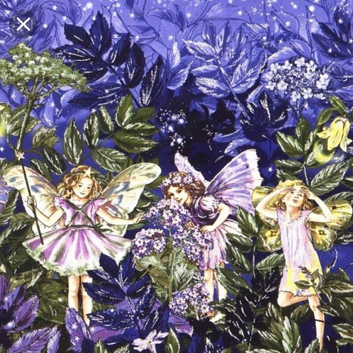 borderstof Michael Miller elfen paars