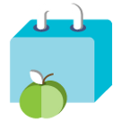 Lunch Box With Apple Clipart