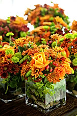 Jai Weddings and Events orange flowers