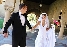 Engaged happy couple wedding
