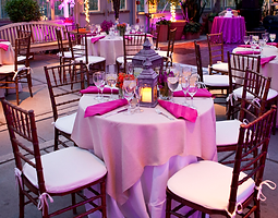 Table Cloths, Chairs, Napkins, Silverware, Champagne Glass, Catering, Key West, Events, Restaurants