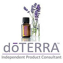dōTERRA® logo, lavender oil, lavender flower
