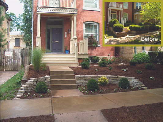 Front Entry Wall and Landscaping