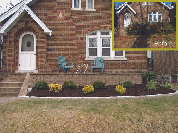 Front Wall and Planted Bed