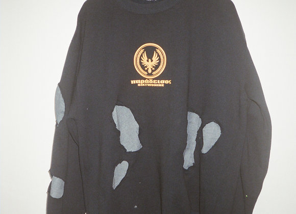 Denim Scars Crewneck Sweaters