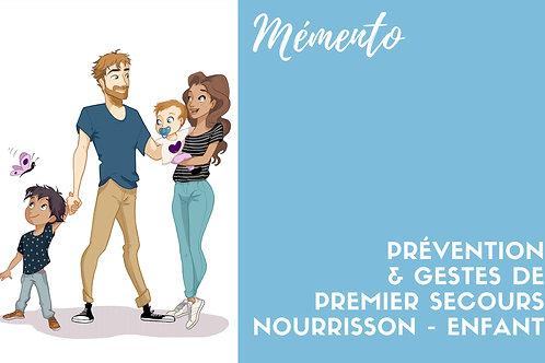 PRÉVENTE - PRÉ-VENTE - E-BOOK - Gestes de premiers secours Nourrisson/Enfant