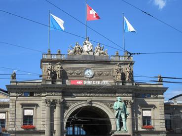 A estação de trem de Zurique