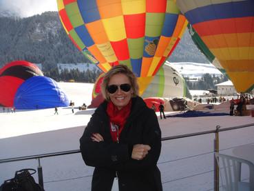 De balão nos Alpes