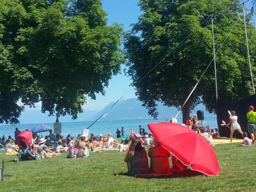 Verão na Suíça, sem fazer nada
