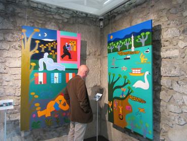 Cristina Rodriguez, colorindo Genebra