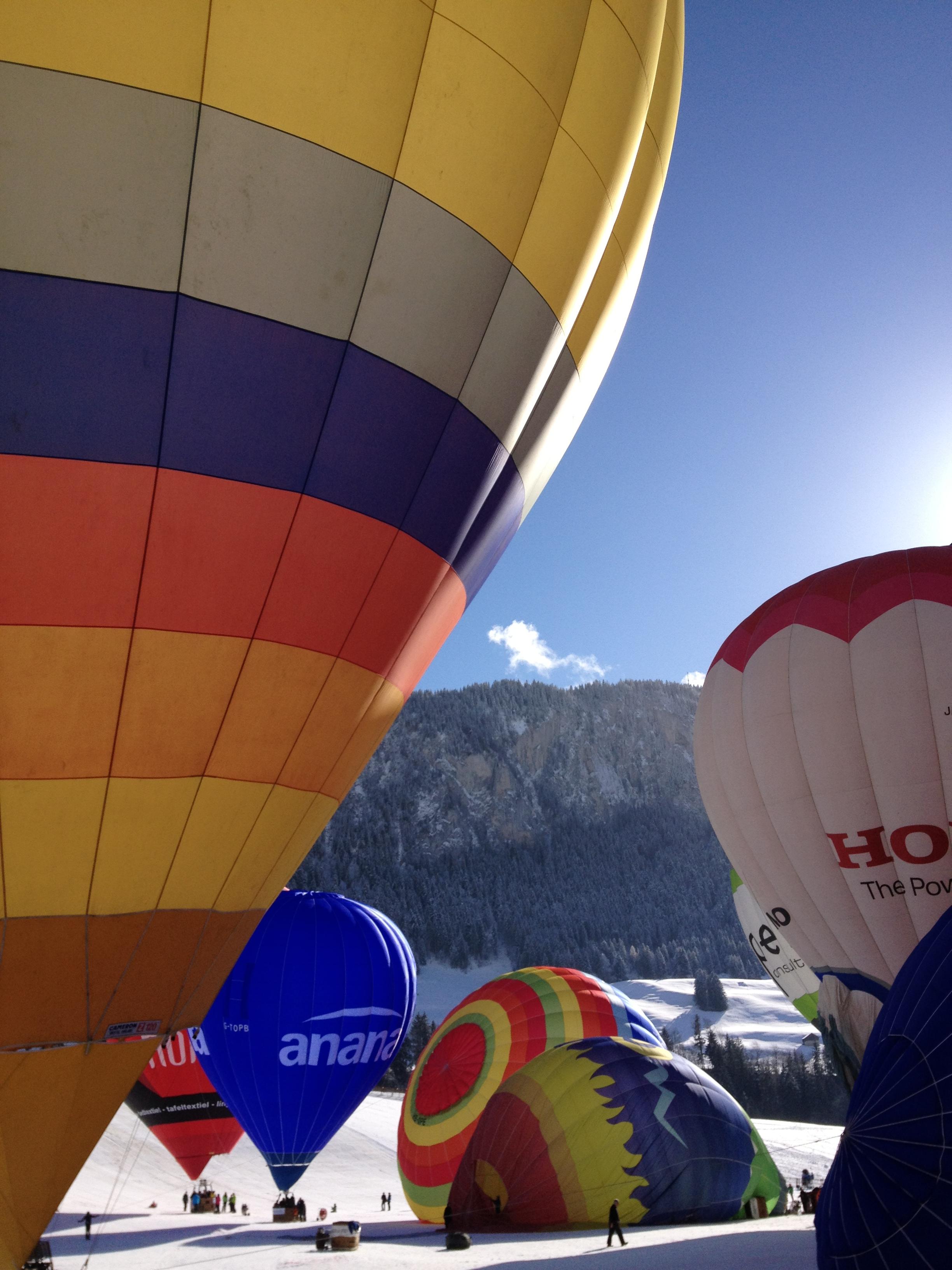 Festival balões Chateau d'OEx