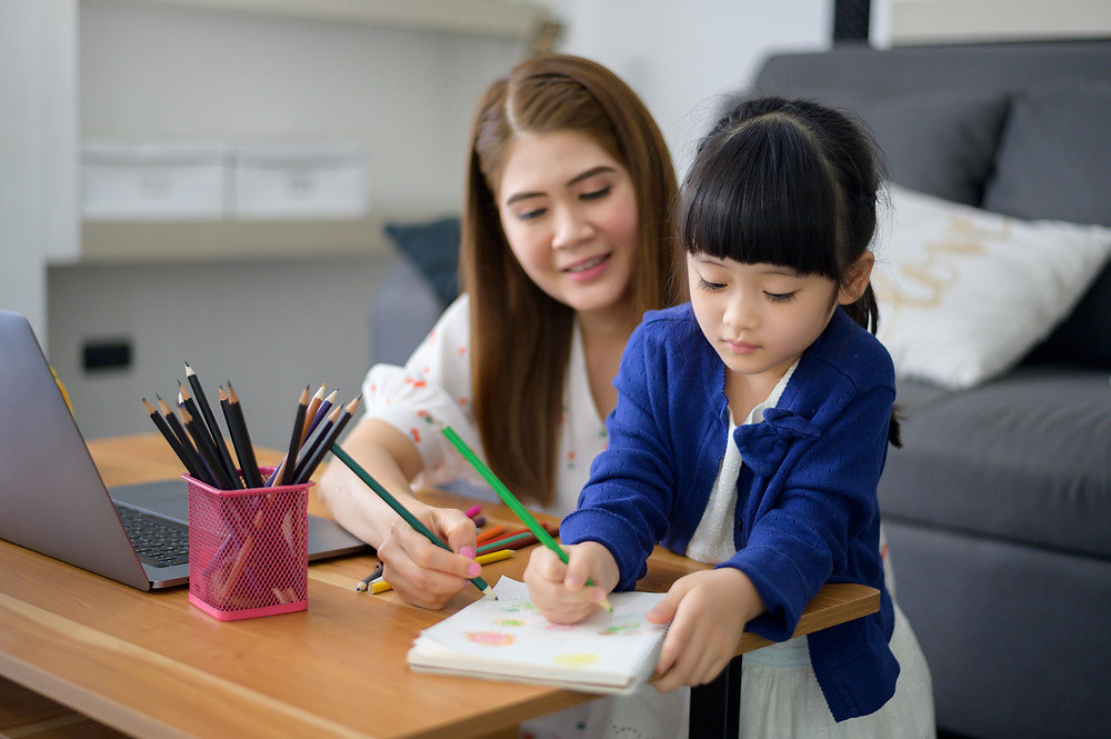 ergonomics for students learning at home standing or sitting using computers laptops or tablets