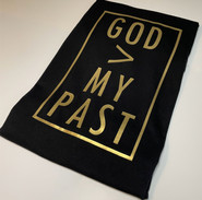 God Is Greater Than My Past Shirt (Gold/Black)