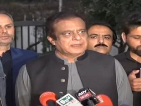 وفاقی وزیر اطلاعات و نشریات سینیٹر شبلی فراز کی پی ٹی آئی کی پارلیمانی پارٹی کے اجلاس کے بعد گفتگو
