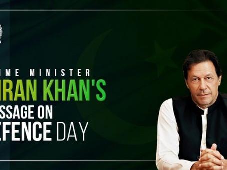 وزیراعظم عمران خان کا 6 ستمبر یوم دفاع کے موقع پرخصوصی پیغام