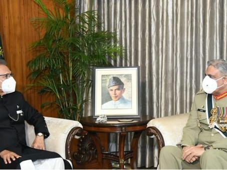 صدر مملکت ڈاکٹر عارف علوی سے آرمی چیف جنرل قمر جاوید باجوہ کی ملاقات