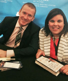 Mrs. Torres and Ron Clark during an educational leadership conference