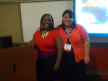 Dr. Nads and Mrs. Torres during an educational leadership conference