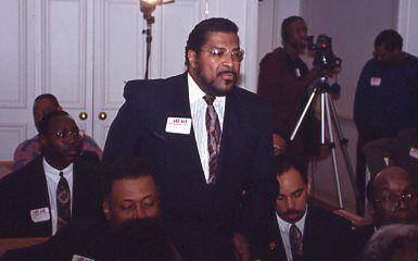 John Mendez at Crime Meeting