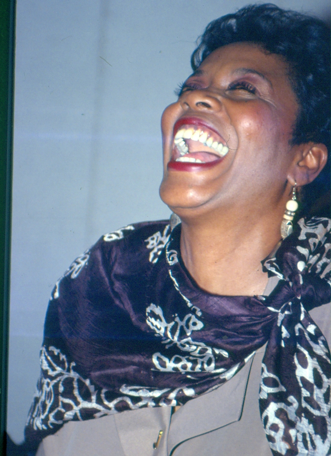 Jazz Singer Melba Houston laughs after appearing on RELAY show