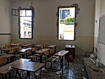 classe du collège Sacré Coeur à Beyrouth