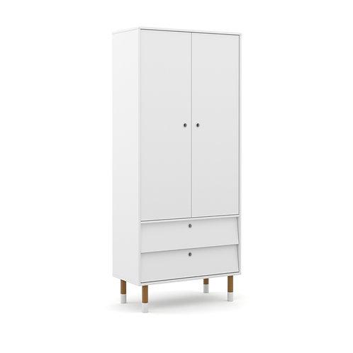 Roupeiro Up 2 portas branco - Matic Móveis