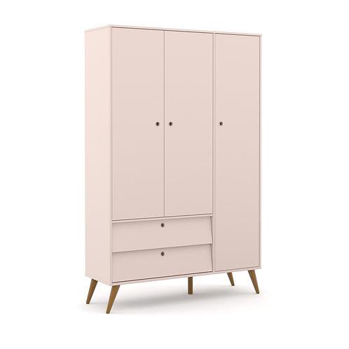 Roupeiro Gold 3 portas rose - Matic Móveis