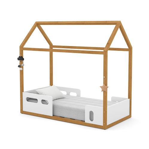 Mini Cama Montessoriana Liv freijó/branco - Matic Móveis