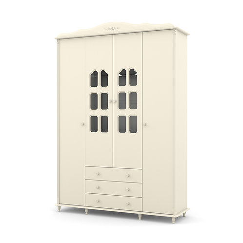 Roupeiro Provence 4 portas offwhite - Matic Móveis